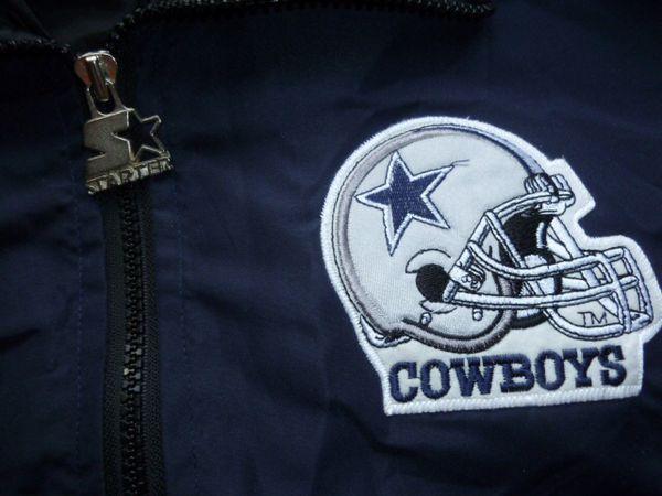 VTG Dallas Cowboys Starter Jacket L Big Helmet