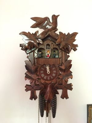 Antique Swiss wood wall Cuckoo Clock for Sale in Miami, FL