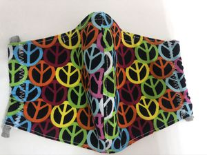 Peace Love Fabric Cloth Mask Face Cover for Sale in Miramar, FL