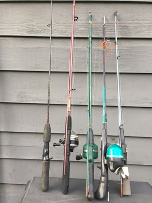 Fishing pole and reel for Sale in Seattle, WA