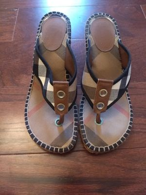 Burberry wedge sandals for Sale in La Jolla, CA