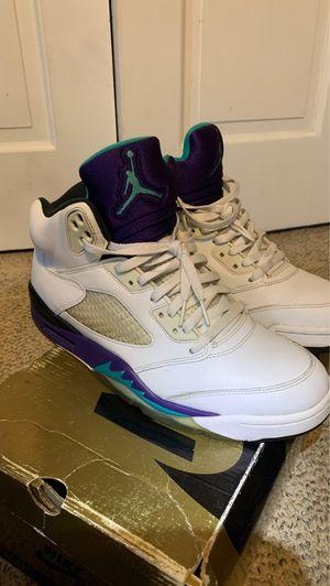 "Jordan 5 ""grapes "" 9.5! for Sale in Washington, DC"