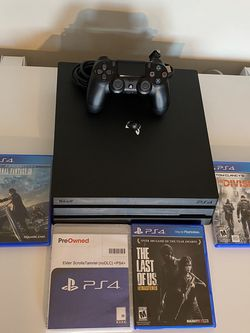 PlayStation 4 Pro 1TB With 4 Games for Sale in Middletown,  NY