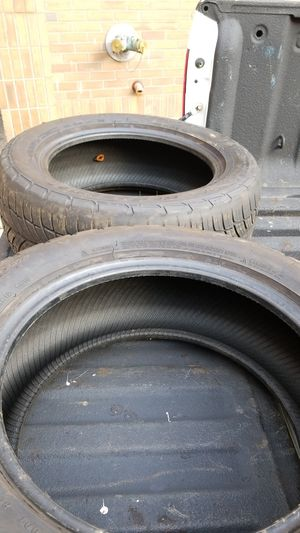 2 BFGoodrich G-Force comp 2 A/S tires one tire has a plug for Sale in Germantown, MD