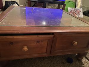 Project coffee table. Solid wood heavy for Sale in Abilene, TX