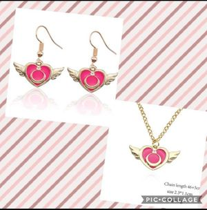 Sailor moon earrings and necklace for Sale in Avondale, AZ