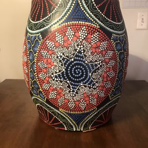 African Influenced Stool (Hand Painted) for Sale in Waldorf, MD
