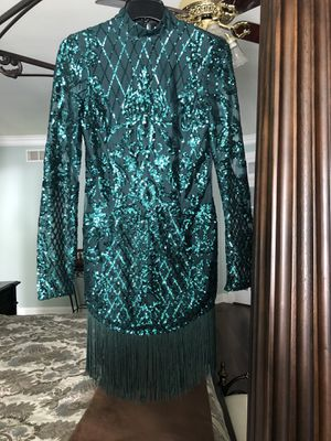 emerald green cocktail dress for Sale in Sewell, NJ