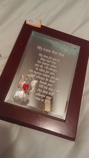 Mirrored Frame Poem for Sale in Stafford Township, NJ