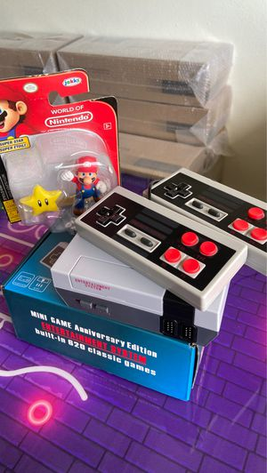 ** SPECIAL ** MINI-Nintendo anniversary Edition built in 620 Classic Games arcade games 👾 Retro games + MARIO World of Nintendo FREE for Sale in West Park, FL