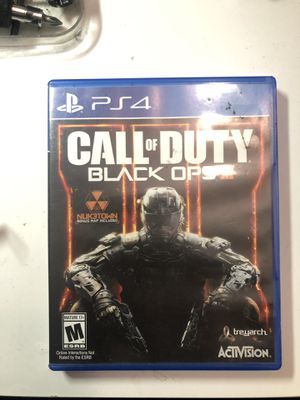 BLACK OPS 3 PS4 for Sale in Garden Grove, CA