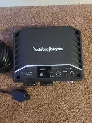 Amp. Rockford fosgate Prime R2-500x1. Plus bass knob and 16 feet of wire for the knob. Amp work perfectly for Sale in Portland, OR