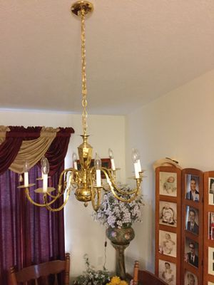 Solid Brass Chandelier for Sale in Westerville, OH
