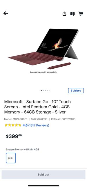 Microsoft Surface go for Sale in ROWLAND HGHTS, CA