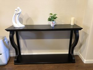 Wooden Black Entry Table & Mirror ( Serious Buyers Only!) for Sale in Tracy, CA