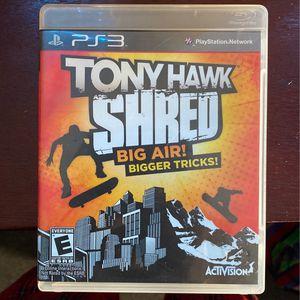TonyHawk SHRED PS3 for Sale in Orlando, FL