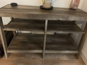 Gray Wood TV Stand for Sale in Portland, OR