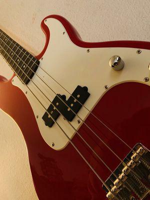 Squier Bass Guitar, Red fender for Sale in Orlando, FL