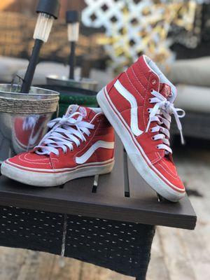 Women's Red Vans(Read Caption) for Sale in Cedar Hill, TX