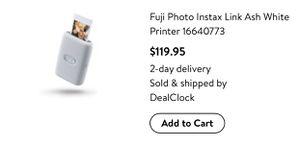 Fujifilm – instax Mini Link Photo Printer – White for Sale in Stockton, CA