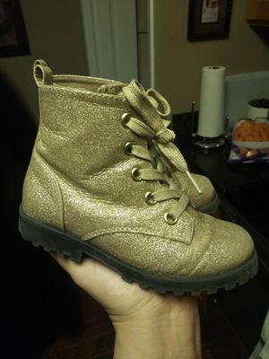 Gold Glitter girl boots for Sale in Tacoma, WA