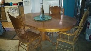 Large wood dining table and chairs for Sale in Auburndale, FL