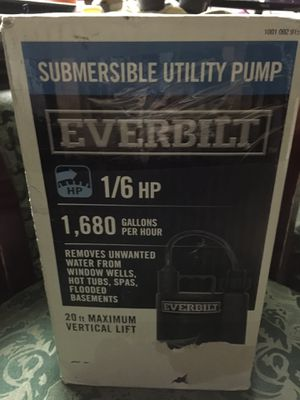 Everbolt submersible utility pump for Sale in Tempe, AZ