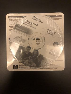 Texas Instruments Manual CD for Sale in Raleigh, NC