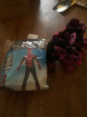 Free!!!!Large Spiderman costume skate size 1-2 for Sale in Norfolk, VA
