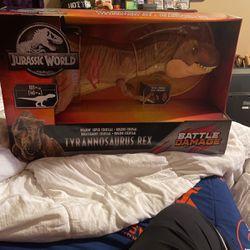 Mattel Jurassic World Tyrannosaurus Rex T-Rex Figure Battle Damage Version NEW! for Sale in Houston,  TX