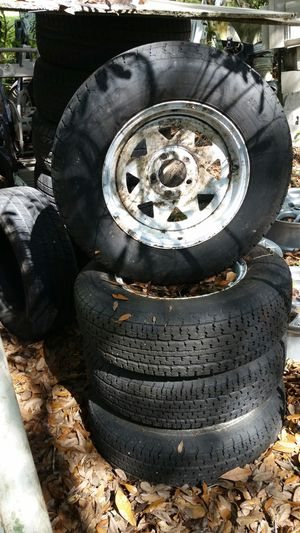 Trailer rims and tires for Sale in Zephyrhills, FL