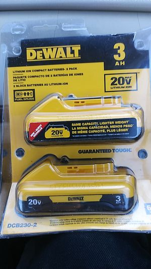 DeWalt 20-volt Max lithium-ion battery Pax 2 to the pack for Sale in Asheville, NC
