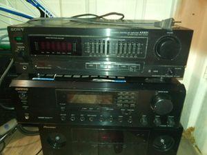 Sony acoustic amplifier ax401& onkyo stereo receiver tx8255 for Sale in San Bernardino, CA