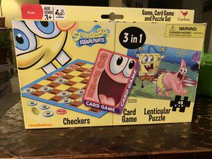 SpongeBob 3 in 1 game for Sale in Wadsworth, OH