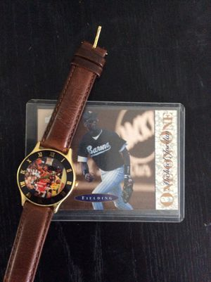 Michael Jordan rookie baseball card. With vintage Nike watch. for Sale in Venice, FL