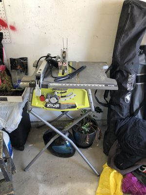 """Ryobi 10"""" table saw, with stand for Sale in San Diego, CA"""