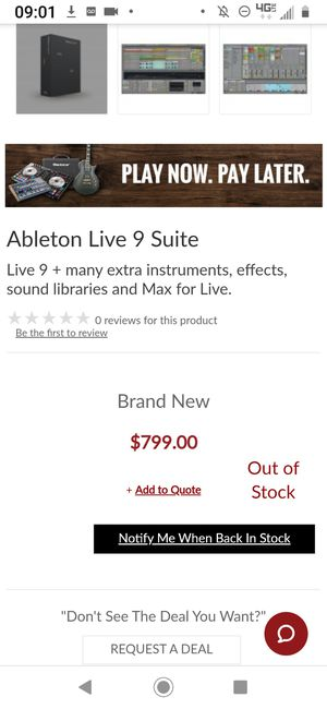 Ableton live 9 Suite for Sale in Reno, NV