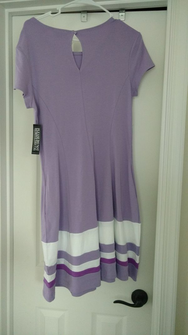 NWT New York & Company Dress, Size: Medium; Colors: Lavender and White