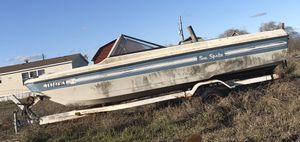 Boat trailer with boat for parts or restoration for Sale in Caddo Mills, TX