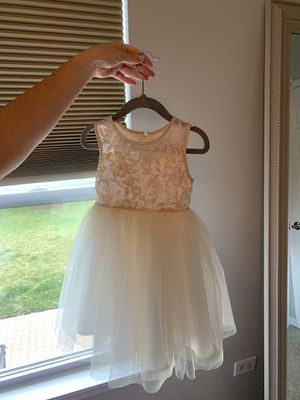 Champagne and ivory dress. 24 months, great for a speacial occasion or flower girl dress. Worn once! for Sale in New Lenox, IL