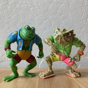 Vintage 1988 Teenage Mutant Ninja Turtles Napoleon Bonafrog & Green Genghis Action Figure TMNT Toy Lot for Sale in Elizabethtown, PA