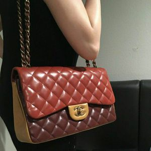RARE Authentic Chanel Tricolor Classic Jumbo Double Flap Bag for Sale in Santa Ana, CA