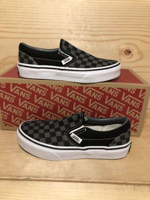 Black checkered vans for Sale in Indianapolis, IN