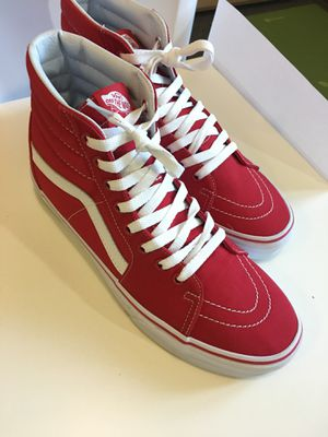 Vans shoes (model Sk8-hi formula red) for Sale in Bend, OR
