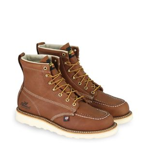 Thorogood AMERICAN HERITAGE – 6″ TOBACCO SAFETY steel TOE – MOC TOE MAXWEAR WEDGE work boots 804-4200 size 13 for Sale in Inglewood, CA
