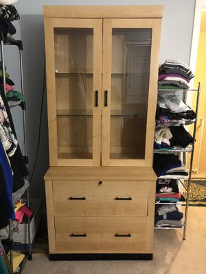 Wooden cabinet for Sale in Springfield, VA