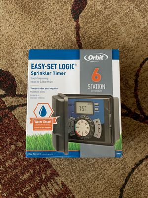 Orbit 6-station Indoor/outdoor Sprinkler Timer Model 27896 for Sale in Bakersfield, CA