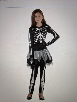 Girl Silvery Skeleton Halloween Costume for Sale in Phoenix, AZ