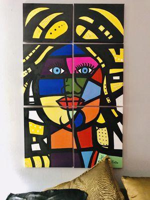 La muñeca de colores art peace in 6 canvas for Sale in Miami, FL