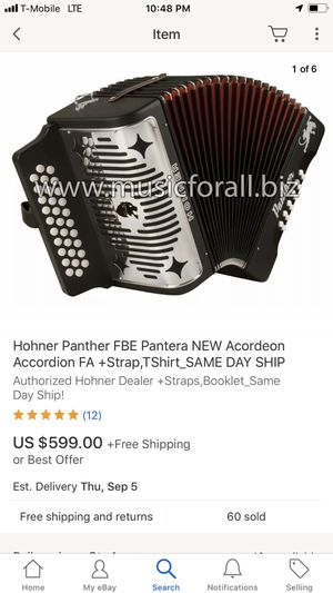 Panther accordion new 🤑🤑🤑🤑🤑🏦🏦🏦🏦🏦 for Sale in Fullerton, CA